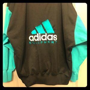Retro Adidas Equiptment 1/4 zip pullover